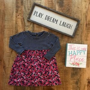 Joules Striped Floral Dress